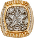 Football Collectibles:Others, 1995 Dallas Cowboys Super Bowl XXX Championship Ring Presented to Top Scout Walt Yowarsky....