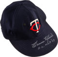 Baseball Collectibles:Others, 1966 Harmon Killebrew Game Worn & Signed Minnesota Twins Cap, MEARS Authentic....
