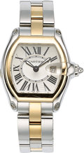 Estate Jewelry:Watches, Cartier Lady's Gold, Stainless Steel Roadster Watch