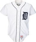 Baseball Collectibles:Uniforms, 1990 Detroit Tigers Greats Signed Game Jersey Presented to TeamOwner Tom Monaghan....