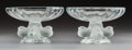 Decorative Arts, French, A Pair of Lalique Nogent Pattern Clear and Satin FinishedCrystal Footed Bowls, post-1980. Marks: Lali... (Total: 2Items)
