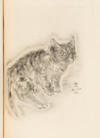 [Tsuguharu] Foujita. A Book of Cats. Being Twenty Drawings. Poems in Prose by Michae