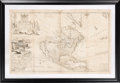 Books:Maps & Atlases, Herman Moll. To the Right Honourable John Lord Sommers... This Map of North America. [London: I. Bowles, circa 1720]...