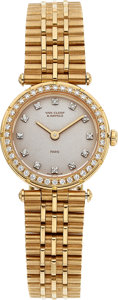 Estate Jewelry:Watches, Van Cleef & Arpels Lady's Diamond, Gold Watch. ...