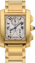 Estate Jewelry:Watches, Cartier Midsize Tank Francaise Gold Watch . ...