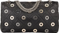 023e9a8466da :Bags, Chanel Limited Edition Swarovski Crystal Black Quilted LambskinFlap  Bag with Silver Hardware.