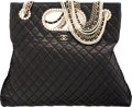 "Luxury Accessories:Bags, Chanel Black Quilted Lambskin Westminster Pearls Convertible Totewith Gold Hardware. Condition: 3. 13"" Width x 12""He..."