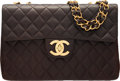 """Luxury Accessories:Bags, Chanel Brown Quilted Lambskin Leather Maxi Single Flap Bag. Condition 2. 13"""" Width x 9"""" Height x 3.5"""" Depth. ..."""