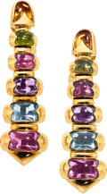 Estate Jewelry:Earrings, Multi-Stone, Gold Earrings, Bvlgari . ...