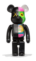 Fine Art - Sculpture, American:Contemporary (1950 to present), KAWS X BE@RBRICK. Dissected Companion 1000% (Black), 2010.Painted cast vinyl. 28 x 13-1/4 x 9-1/2 inches (71.1 x 33.7 x...
