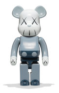 Collectible, KAWS X BE@RBRICK. Companion 1000% (Blue/Grey), 2006. Painted cast vinyl. 28 x 13-1/4 x 9-1/2 inches (71.1 x 33.7 x 24.1 ...