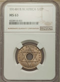 British West Africa, British West Africa: 3-Piece Group of Certified George V 1/2 Penny1914-H NGC,... (Total: 3 coins)