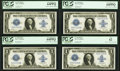 Large Size:Silver Certificates, Cut Sheet of Four Fr. 238 $1 1923 Silver Certificates. PCGS VeryChoice New 64PPQ(3); New 62.. ... (Total: 4 notes)