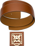 """Luxury Accessories:Accessories, Hermes Set of Two: 42mm Belt Strap & Gold Kreneaux Belt Buckle. Condition: 1. 37"""" Length. 2"""" Width x 2"""" Height. ... (Total: 2 Items)"""