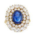 Estate Jewelry:Rings, Sapphire, Diamond, Gold Ring, Jacques Timey for Harry Winston. ...