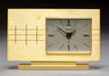 Decorative Arts, Continental:Other , A Jaeger-Le Coultre Brass 8-Day Desk Clock, Le Sen...