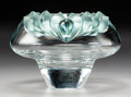 Decorative Arts, French:Other , A Lalique Persepolis Pattern Clear and Frosted Green CrystalBowl, post-1980. Marks: Lalique, (R in circle),...