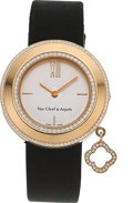 Estate Jewelry:Watches, Van Cleef & Arpels Lady's Diamond, Gold Charms Watch . ...