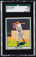 Baseball Cards:Singles (1940-1949), 1941 Play Ball Mel Ott #8 SGC 55 VG/EX+ 4.5....