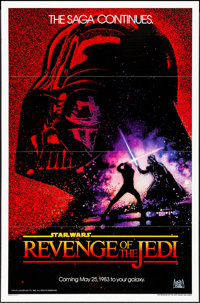 "Revenge of the Jedi (20th Century Fox, 1982). One Sheet (27"" X 41"") Advance Dated Style. Science Fiction"