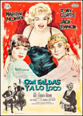 """Movie Posters:Comedy, Some Like It Hot (United Artists/CB Films, 1963). First ReleaseSpanish One Sheet (27.5"""" X 39"""") Macario """"MAC"""" Gomez Artwork...."""