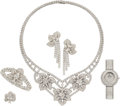 Estate Jewelry:Suites, Diamond, White Gold Jewelry Suite, Chatila. ... (Total: 5 Items)