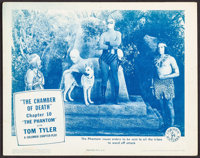 """The Phantom (Columbia, 1943). Lobby Card (11"""" X 14"""") Chapter 10 -- """"The Chamber of Death."""" Serial..."""