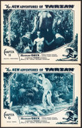 """Movie Posters:Serial, The New Adventures of Tarzan (Burroughs-Tarzan-Enterprise, 1935). Lobby Cards (2) (11"""" X 14"""") Chapters 6 & 11. Serial.. ... (Total: 2 Items)"""