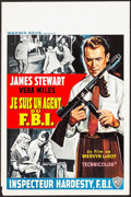 "Movie Posters:Crime, The FBI Story (Warner Brothers, 1959). Belgian (14.5"" X 22"").Crime.. ..."