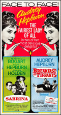 "Movie Posters:Comedy, Sabrina/Breakfast at Tiffany's Combo (Paramount, R-1965). ThreeSheet (41.75"" X 79""). Comedy.. ..."