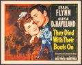 "Movie Posters:Western, They Died with Their Boots On (Warner Brothers, 1941). Title Lobby Card (11"" X 14""). Western.. ..."