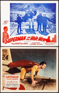 "Movie Posters:Action, Superman Flies Again & Other Lot (20th Century Fox, 1954).Lobby Cards (2) (11"" X 14""). Action.. ... (Total: 2 Items)"