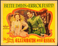 """Movie Posters:Swashbuckler, The Private Lives of Elizabeth and Essex (Warner Brothers, 1939). Linen Finish Lobby Card (11"""" X 14""""). Swashbuckler.. ..."""
