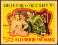 "The Private Lives of Elizabeth and Essex (Warner Brothers, 1939). Linen Finish Lobby Card (11"" X 14""). Swashbu..."