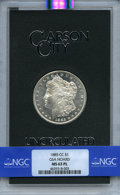 1885-CC $1 GSA MS63 Prooflike NGC. VAM-3. A GSA box is included. NGC Census: (141/163). PCGS Population: (4/11). Mintage...