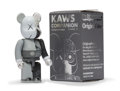 Fine Art - Sculpture, American:Contemporary (1950 to present), KAWS X BE@RBRICK. Dissected Companion 100% (Grey), 2010.Painted cast vinyl. 2-3/4 x 1-1/4 x 3/4 inches (7 x 3.2 x 1.9 c...