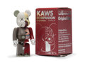 Fine Art - Sculpture, American:Contemporary (1950 to present), KAWS X BE@RBRICK. Dissected Companion 100%, 2008. Paintedcast vinyl. 2-3/4 x 1-1/4 x 3/4 inches (7 x 3.2 x 1.9 cm) (toy...