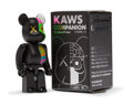 Fine Art - Sculpture, American:Contemporary (1950 to present), KAWS X BE@RBRICK. Dissected Companion 100% (Black), 2010.Painted cast vinyl. 2-3/4 x 1-1/4 x 3/4 inches (7 x 3.2 x 1.9 ...