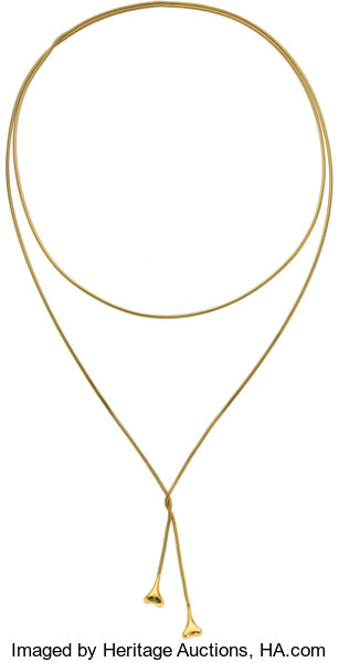 e9ce162f5 Gold Necklace, Tiffany & Co.. ... Estate Jewelry Necklaces | Lot ...