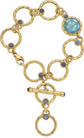 Estate Jewelry:Bracelets, Blue Topaz, Iolite, Gold Bracelet, Miseno. ...