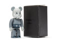 Collectible, KAWS X BE@RBRICK. Companion 100% (Blue/Grey), 2006. Painted cast vinyl. 2-3/4 x 1-1/4 x 0-3/4 inches (7 x 3.2 x 1.9 cm) ...