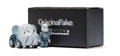 Fine Art - Sculpture, American:Contemporary (1950 to present), KAWS X BE@RBRICK X Takara Tomy. Choro-Q (Blue/Grey), 2007.Painted cast vinyl. 1-3/8 x 3/4 x 3/8 inches (3.5 x 1.9 x 1 c...