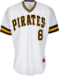 Baseball Collectibles:Uniforms, 1985 Willie Stargell Game Worn Pittsburgh Pirates Coach's Jerseyfrom The Joseph O'Toole Collection. ...