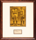 Baseball Collectibles:Others, 1908-09 Walter Johnson, Gabby Street & Bob Ganley Signed Cut Signature Display....