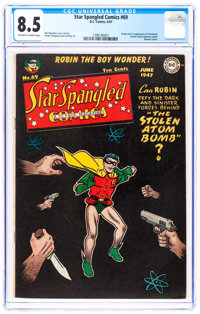 Star Spangled Comics #69 (DC, 1947) CGC VF+ 8.5 Off-white to white pages