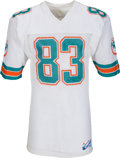 Football Collectibles:Uniforms, 1987 Mark Clayton Game Worn & Signed Miami Dolphins Jersey. ...