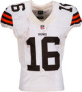 Football Collectibles:Uniforms, 2012 Josh Cribbs Game Worn & Unwashed Cleveland Browns Jersey - Used 10/21 vs. Colts....
