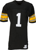 Football Collectibles:Uniforms, 1988 Gary Anderson Game Worn & Signed Pittsburgh Steelers Jersey....