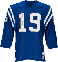 1971-72 Johnny Unitas Game Worn & Signed Baltimore Colts Jersey--The Very Last Colts Jersey Ever Worn by Unitas!