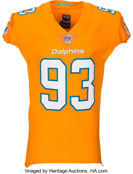 buy popular c1787 40423 2016 Ndamakong Suh Game Issued Miami Dolphins Color Rush ...